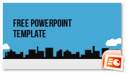city cline – template powerpoint keren, Powerpoint templates